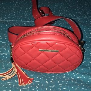 Aldo Belt Quilted Red Faux Leather Fanny Pack